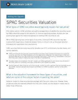 SPAC Securities Valuation: Asking the Experts