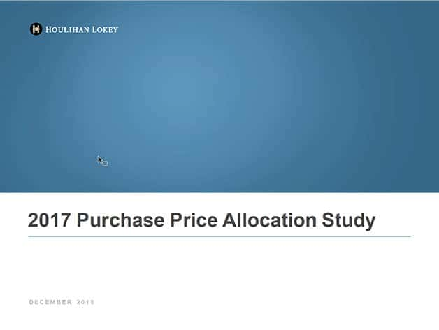 Purchase Price Allocation Study 2017