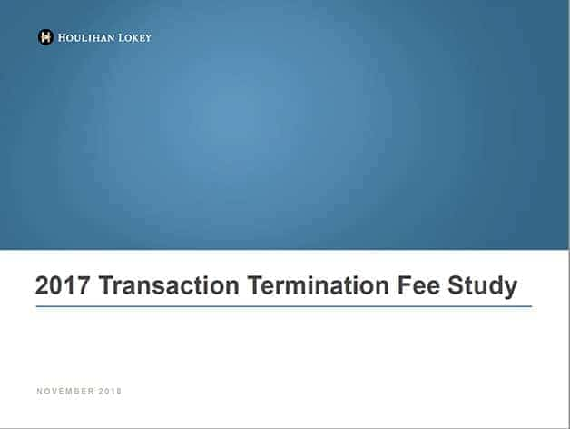 Transaction Termination Fee Study 2017